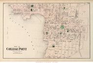 College Point (Southern Part) - Flushing, New York 1873 Old Town Map Reprint - Queens Co. (LI)