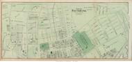 Flushing Village (Eastern Part) - Flushing, New York 1873 Old Town Map Reprint - Queens Co. (LI)