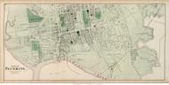 Flushing Village (Western Part) - Flushing, New York 1873 Old Town Map Reprint - Queens Co. (LI)