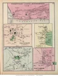 Unionville, Guntherville, Gravesent, Flatlands, and New Utrecht Villages - Gravesend, New York 1873 Old Town Map Reprint - Kings Co. (LI)
