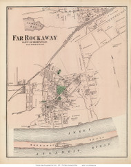Far Rockaway Village - Hempstead, New York 1873 Old Town Map Reprint - Queens Co. (LI)