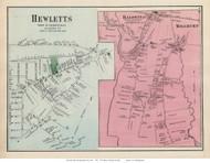Hewletts, Baldwins, and Millburn Villages - Hempstead, New York 1873 Old Town Map Reprint - Queens Co. (LI)