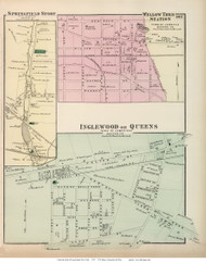 Springfield Store, Willow Tree Station, and Inglewood or Queens Villages - Hempstead, New York 1873 Old Town Map Reprint - Queens Co. (LI)