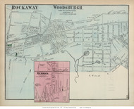 Rockaway, Woodsburgh, and Merrick Villages - Hempstead, New York 1873 Old Town Map Reprint - Queens Co. (LI)