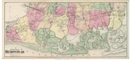 Hempstead Town (Southern Part), New York 1873 Old Town Map Reprint - Queens Co. (LI)