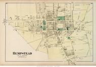 Hempstead Village, New York 1873 Old Town Map Reprint - Queens Co. (LI)