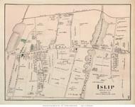 Islip Village, New York 1873 Old Town Map Reprint - Suffolk Co. (LI)
