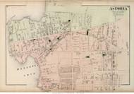 Astoria - Long Island City, New York 1873 Old Town Map Reprint - Queens Co. (Suffolk Atlas)