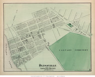 Blissville - Long Island City, New York 1873 Old Town Map Reprint - Queens Co. (Suffolk Atlas)