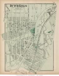 Dutch Kills - Long Island City, New York 1873 Old Town Map Reprint - Queens Co. (Suffolk Atlas)