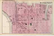 Hunters Point - Long Island City, New York 1873 Old Town Map Reprint - Queens Co. (Suffolk Atlas)