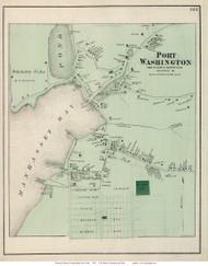 Port Washington - North Hempstead, New York 1873 Old Town Map Reprint - Queens Co. (Suffolk Atlas)