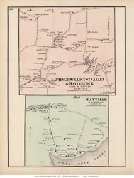Bayville, Matinecock, Lattingtown, and Locust Valley Villages - Oyster Bay, New York 1873 Old Town Map Reprint - Queens Co. (Suffolk Atlas)