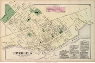 Riverhead and Northville Villages, New York 1873 Old Town Map Reprint - Suffolk Co. (Suffolk Atlas)