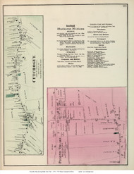 Cutchogue and Peconic Villages - Southold, New York 1873 Old Town Map Reprint - Suffolk Co. (Suffolk Atlas)