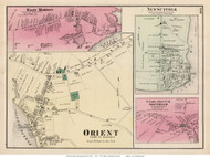 Orient, East Marion, and New Suffolk Villages - Southold, New York 1873 Old Town Map Reprint - Suffolk Co. (Suffolk Atlas)