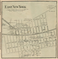 East New York - New Lots, New York 1859 Old Town Map Custom Print - Kings Co.