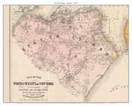 North Staten Island, New York 1857 Old Town Map Custom Print - New York City Area - Port & Vicinity of New York - Yellow Fever