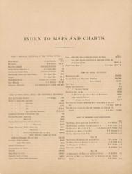 Index 1874 - Walker 1870 9th Census Atlas - USA Atlases
