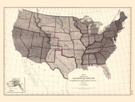 Territoty Acquisition of the United States 1776-1874 - Walker 1870 9th Census Atlas - USA Atlases