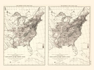 Population of the United States 1830-1840 - Walker 1870 9th Census Atlas Eastern - USA Atlases