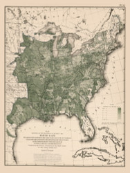 Birth Rate in the United States 1870 - Walker 1870 9th Census Atlas Eastern - USA Atlases