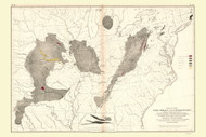 Coal Fields of the United States 1870 - Walker 1870 9th Census Atlas Eastern - USA Atlases