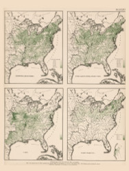 Range of Crops in the United States - Corn, Dairy, etc. 1870 - Walker 1870 9th Census Atlas Eastern - USA Atlases