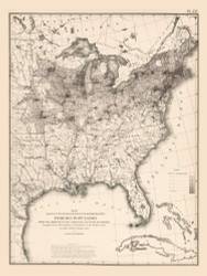 Foreign Population in the United States 1870 - Walker 1870 9th Census Atlas Eastern - USA Atlases