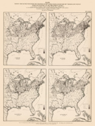 Foreign Population in the United States - Irish & German 1870 - Walker 1870 9th Census Atlas Eastern - USA Atlases