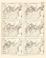 Foreign Population in the United States- British, English, Welsh, Swedish, Norwegian 1870- Walker 1870 9th Census Atlas Eastern- USA Atlases