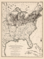 Foreign Parentage in the United States 1870 - Walker 1870 9th Census Atlas Eastern - USA Atlases