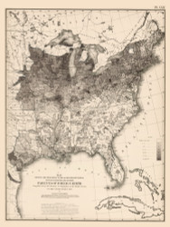Proportion of Persons with Parents of Foreign Birth in the United States 1870 - Walker 1870 9th Census Atlas Eastern- USA Atlases