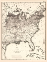 Proportion of Foreign to the Aggregate Population in the United States 1870 - Walker 1870 9th Census Atlas Eastern - USA Atlases