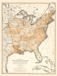 Degree of Public Inbdebtedness per Capita in the United States 1870 - Walker 1870 9th Census Atlas Eastern - USA Atlases