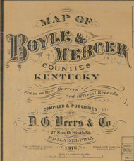Title of Source Map - Boyle Co., Kentucky 1876 - NOT FOR SALE - Mercer Co.
