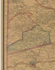 Precinct 1 and 8, Stewart, Nevada - Mercer County, Kentucky 1876 Old Town Map Custom Print - Mercer Co.