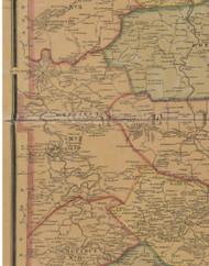 Precinct 2, Cornishville, Duncansville - Mercer County, Kentucky 1876 Old Town Map Custom Print - Mercer Co.
