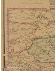 Precinct 3, Dugansville, Tattletown - Mercer County, Kentucky 1876 Old Town Map Custom Print - Mercer Co.