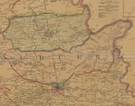 Precinct 5, Pleasant Hill, Harrodsburg, Bohn - Mercer County, Kentucky 1876 Old Town Map Custom Print - Mercer Co.