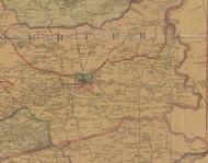 Precinct 6, Harrodsburg, Rose Hill, Curdsville - Mercer County, Kentucky 1876 Old Town Map Custom Print - Mercer Co.