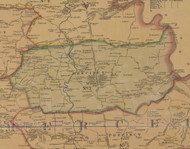 Precinct 7, McAfee - Mercer County, Kentucky 1876 Old Town Map Custom Print - Mercer Co.