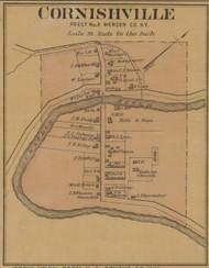 Cornishville Village - Precinct 2 - Mercer County, Kentucky 1876 Old Town Map Custom Print - Mercer Co.