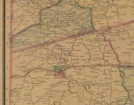 Precinct 2, Perryville - Boyle County, Kentucky 1876 Old Town Map Custom Print - Boyle Co.
