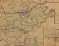 Precinct 3, Shelby City, Danville, Alum Springs - Boyle County, Kentucky 1876 Old Town Map Custom Print - Boyle Co.