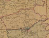 Precinct 4, Danville - Boyle County, Kentucky 1876 Old Town Map Custom Print - Boyle Co.