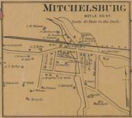 Mitchelsburg Village - Precinct 1 - Boyle County, Kentucky 1876 Old Town Map Custom Print - Boyle Co.