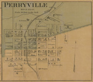 Perryville Village - Precincts 1&2 - Boyle County, Kentucky 1876 Old Town Map Custom Print - Boyle Co.