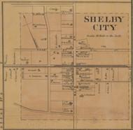 Shelby City Village - Precinct 3 - Boyle County, Kentucky 1876 Old Town Map Custom Print - Boyle Co.