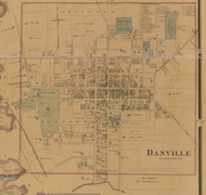 Danville Village - Precincts 3&4 - Boyle County, Kentucky 1876 Old Town Map Custom Print - Boyle Co.